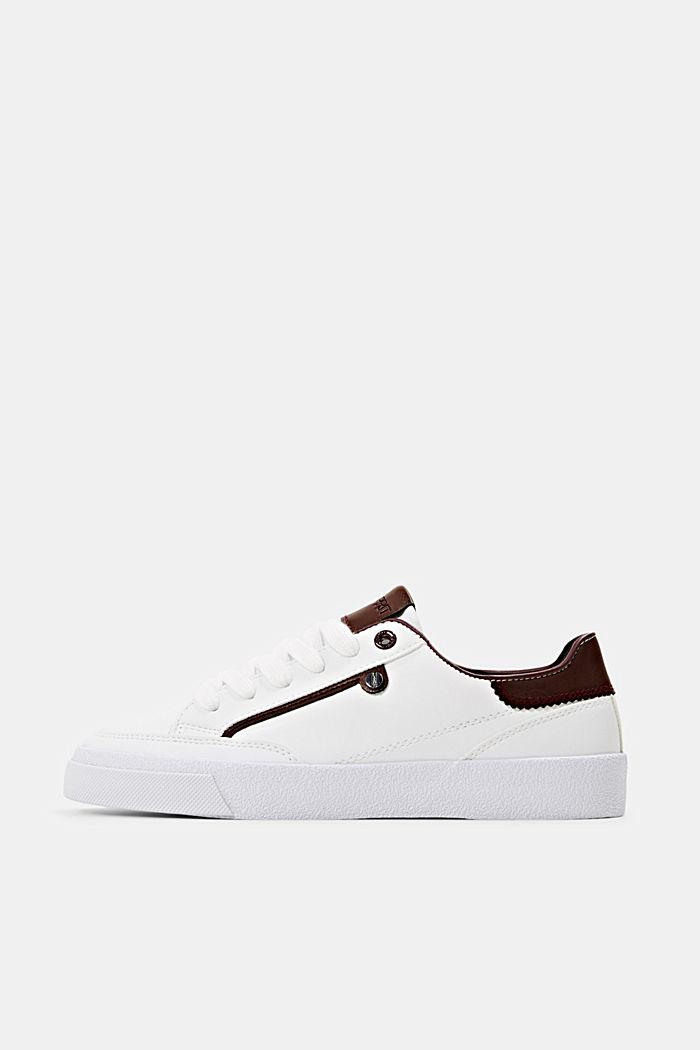 Sneaker in Lederoptik, BORDEAUX RED, detail image number 0