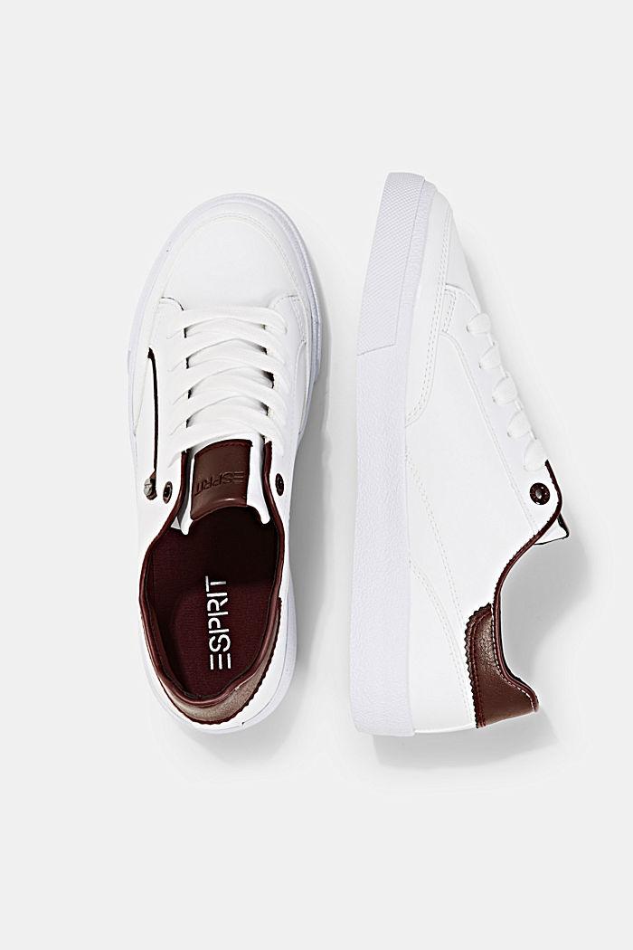 Sneaker in Lederoptik, BORDEAUX RED, detail image number 1