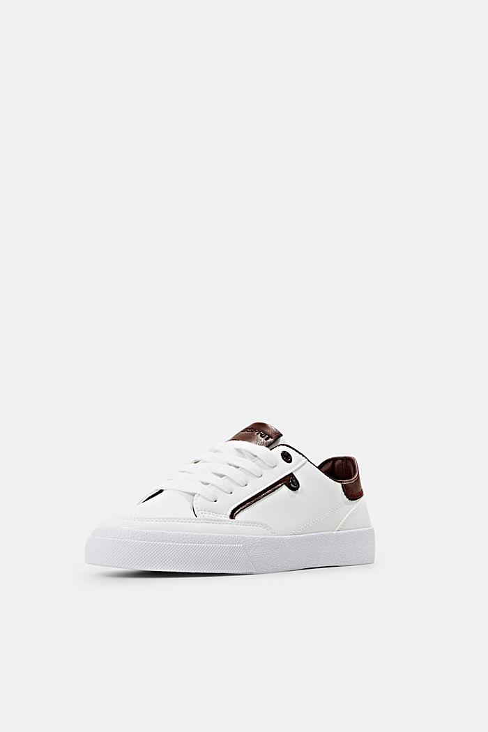 Sneaker in Lederoptik, BORDEAUX RED, detail image number 2