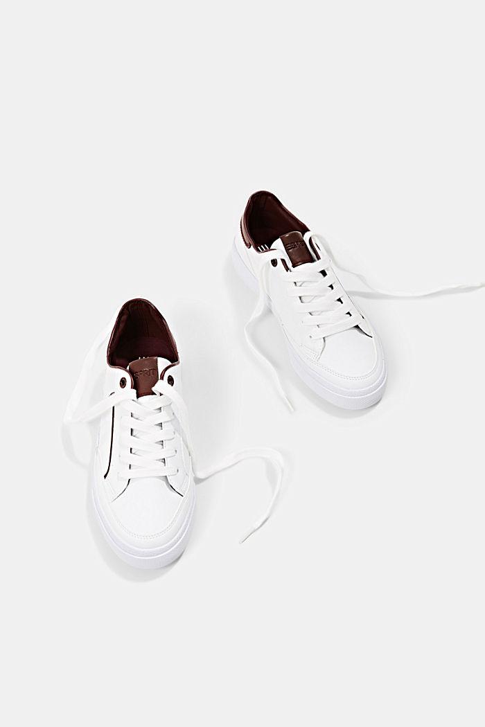 Sneaker in Lederoptik, BORDEAUX RED, detail image number 6