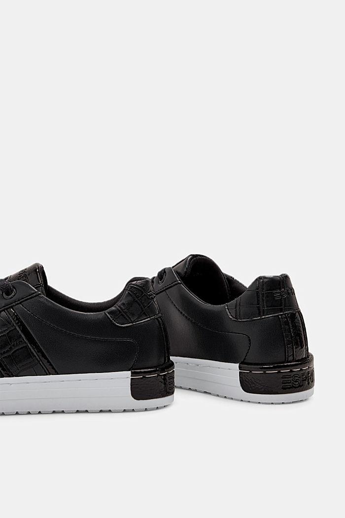 Sneakers van een materiaalmix van imitatieleer, BLACK, detail image number 5