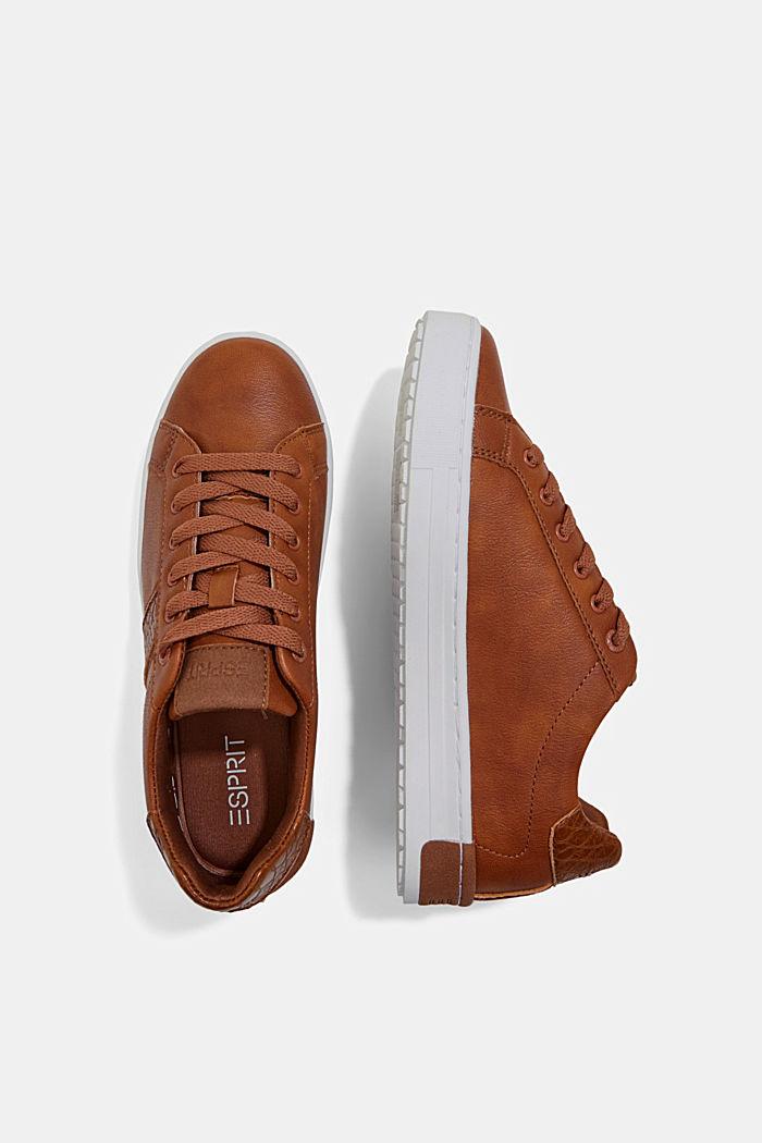 Sneakers van een materiaalmix van imitatieleer, TOFFEE, detail image number 1