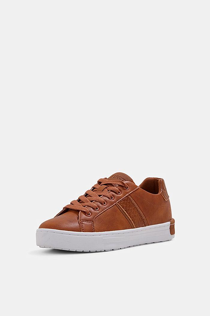 Sneakers van een materiaalmix van imitatieleer, TOFFEE, detail image number 2