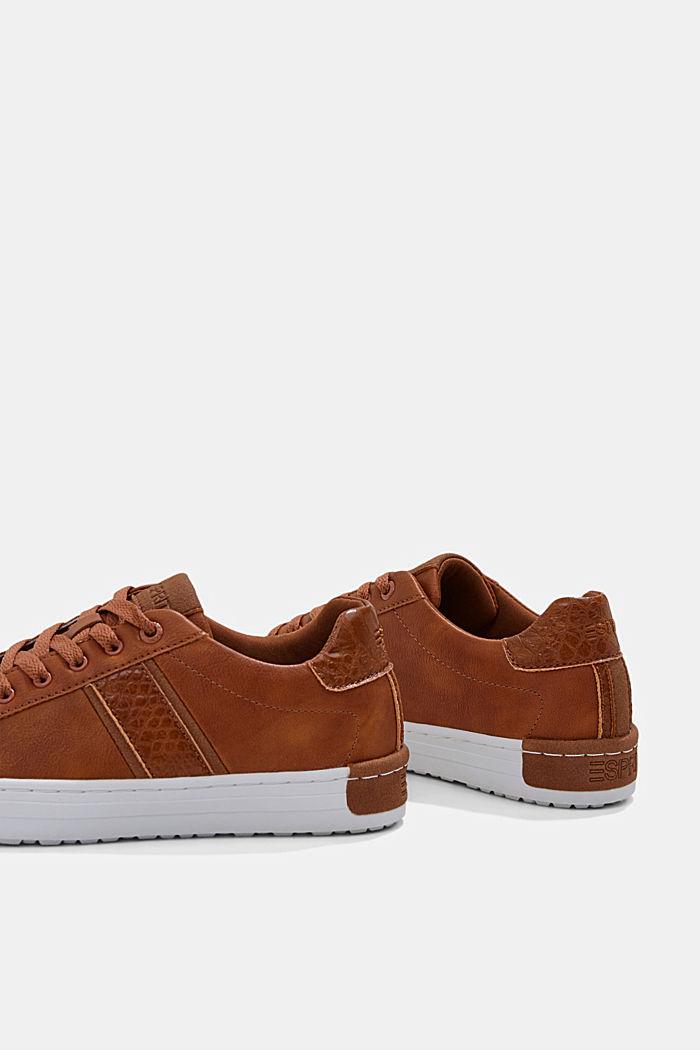 Sneakers van een materiaalmix van imitatieleer, TOFFEE, detail image number 5