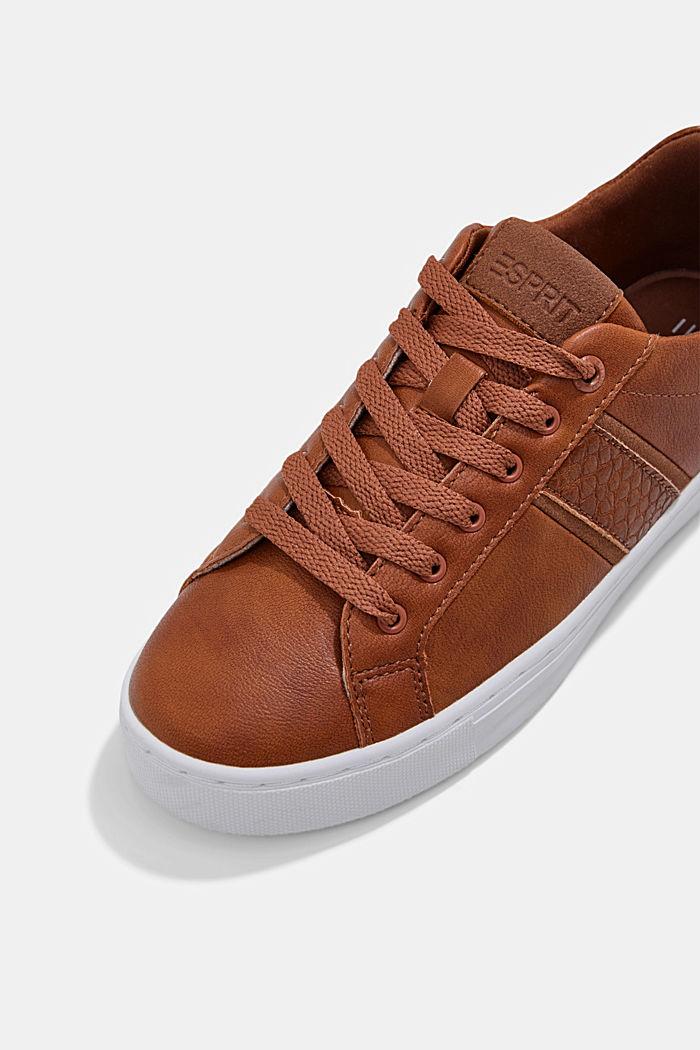 Sneakers van een materiaalmix van imitatieleer, TOFFEE, detail image number 4