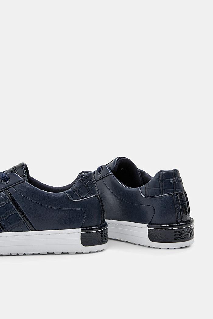 Sneakers aus Materialmix in Lederoptik, NAVY, detail image number 5