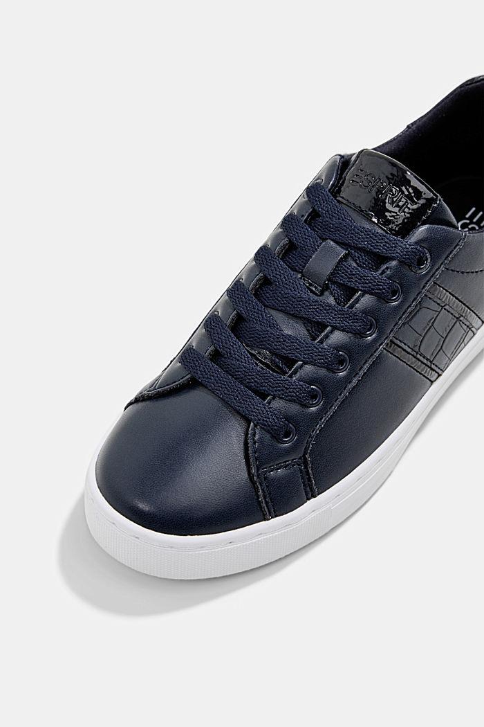 Sneakers aus Materialmix in Lederoptik, NAVY, detail image number 4