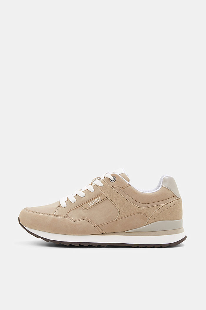 Sneakers met suèdelook, CREAM BEIGE, detail image number 0