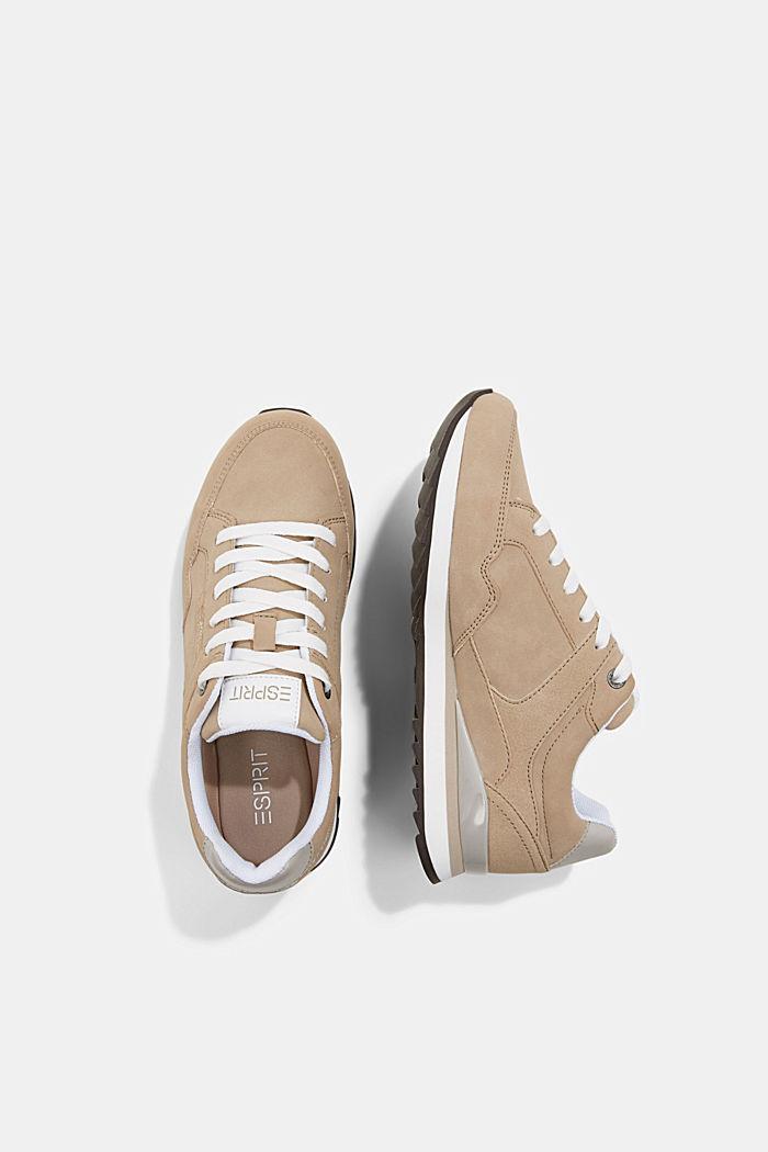 Sneakers met suèdelook, CREAM BEIGE, detail image number 1