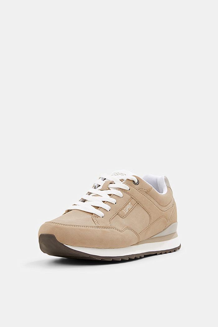 Sneakers met suèdelook, CREAM BEIGE, detail image number 2