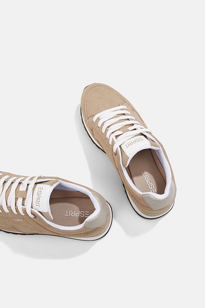 Sneakers met suèdelook, CREAM BEIGE, detail image number 5