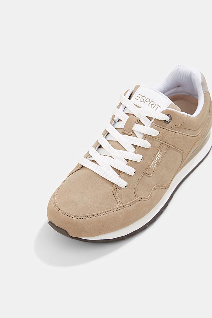 Sneakers met suèdelook, CREAM BEIGE, detail image number 4