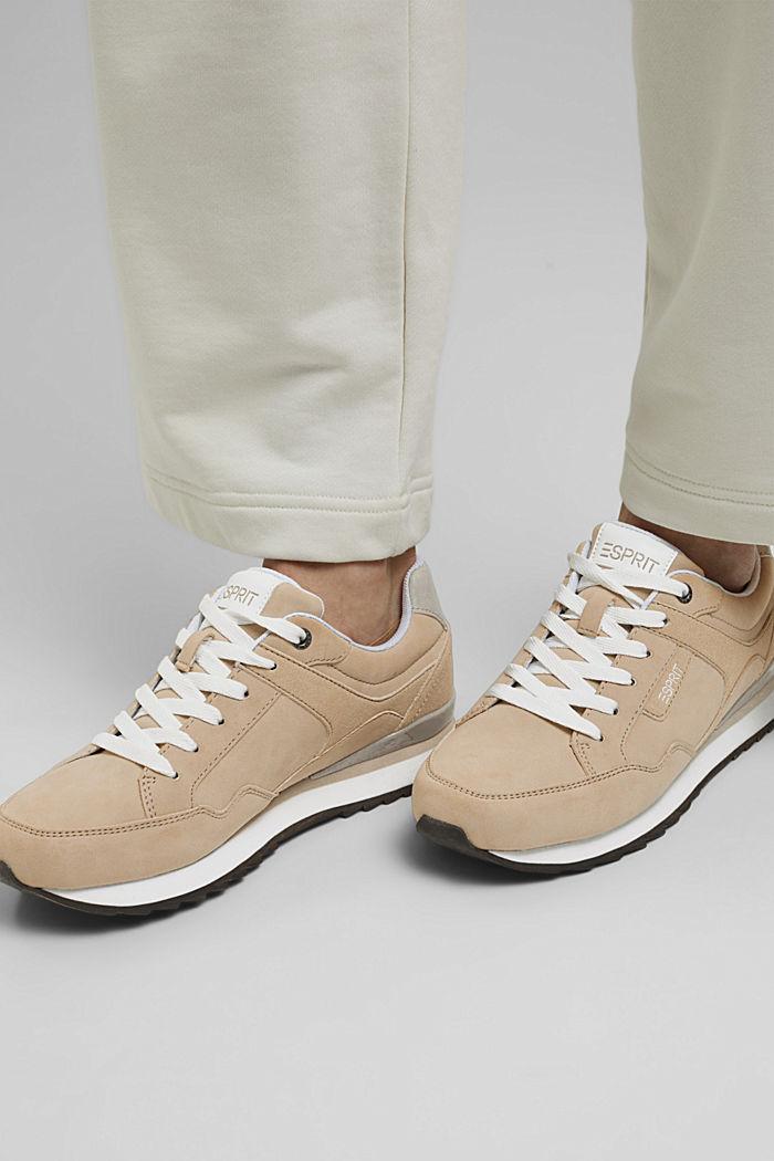 Sneakers in Velourslederoptik