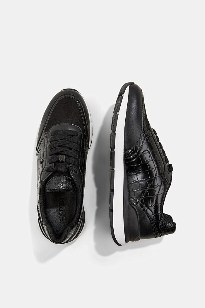 Sneakers in Lederoptik, BLACK, detail image number 1