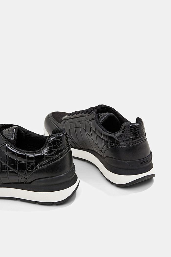 Sneakers in Lederoptik, BLACK, detail image number 5