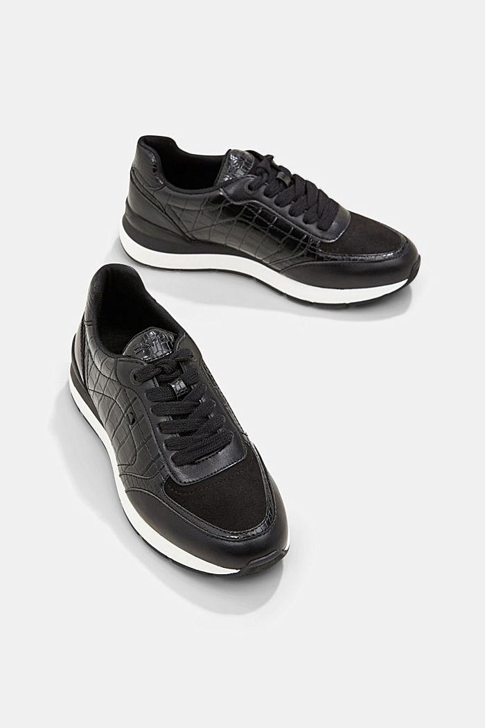 Sneakers in Lederoptik, BLACK, detail image number 6