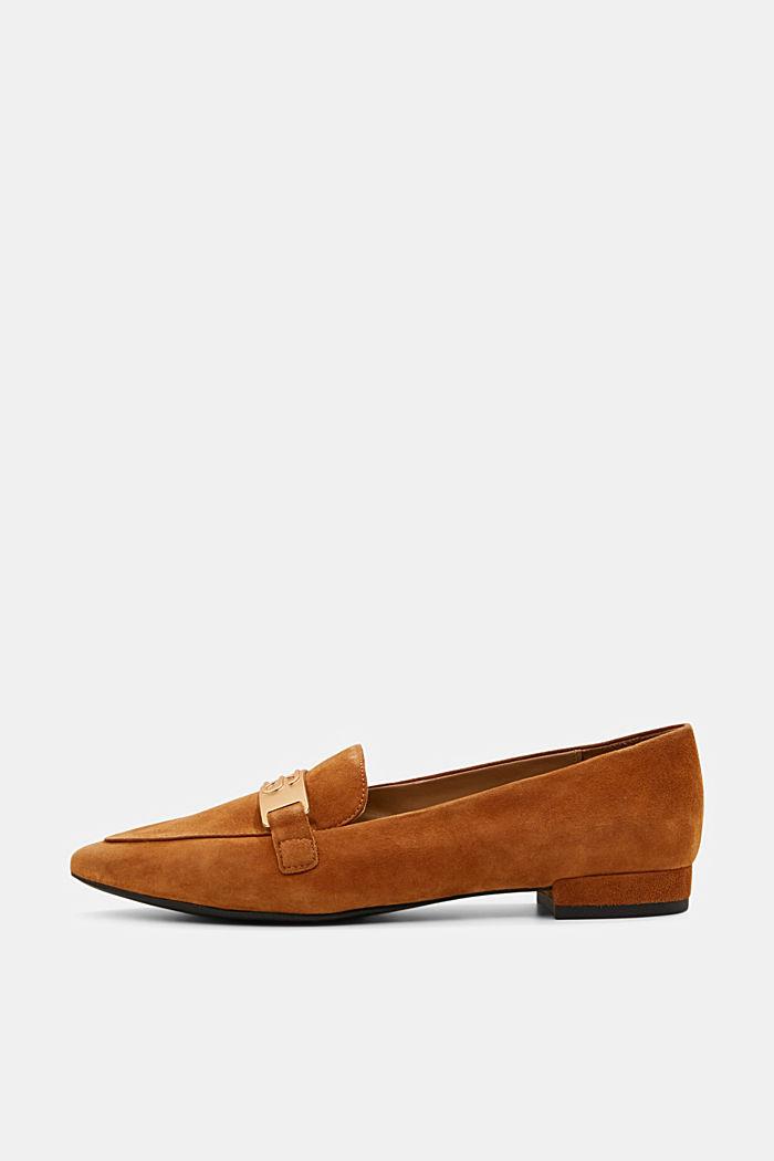 Af ruskind: Loafers med monogram