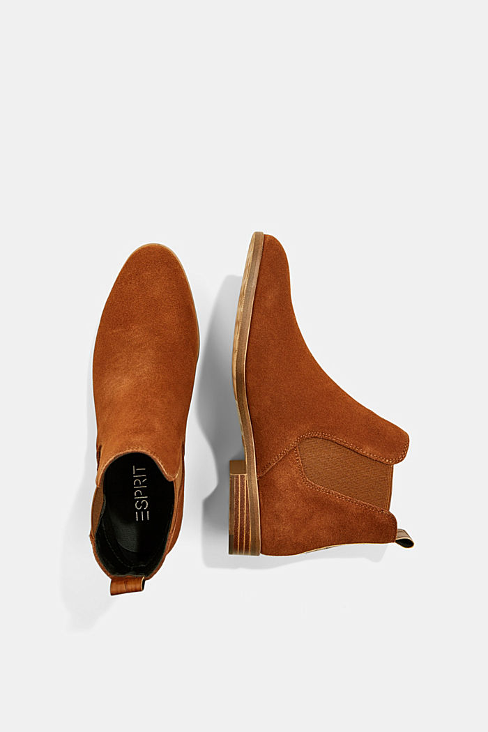 Chelsea-Boots aus Veloursleder, TOFFEE, detail image number 1