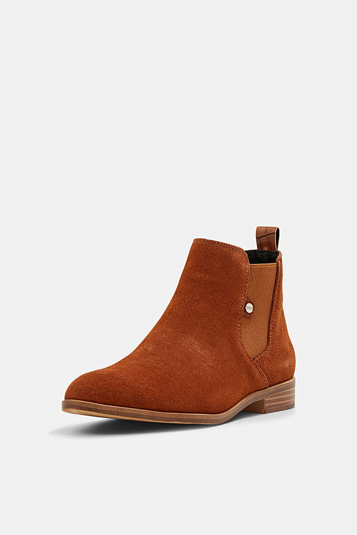 Chelsea-Boots aus Veloursleder, TOFFEE, detail image number 2