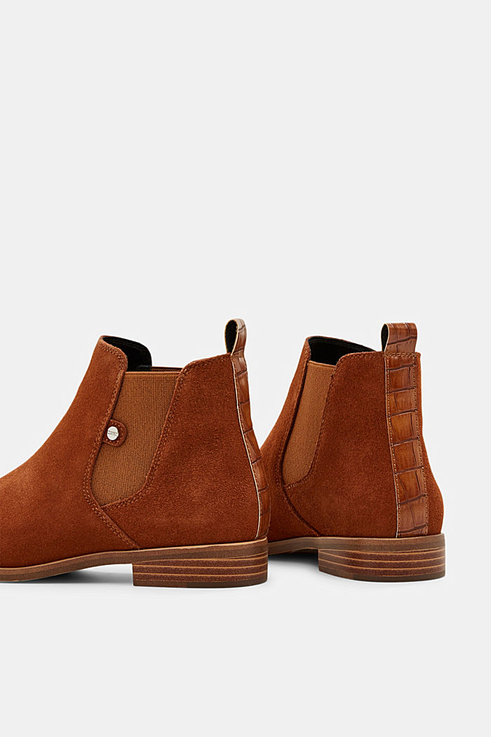 Chelsea-Boots aus Veloursleder, TOFFEE, detail image number 5