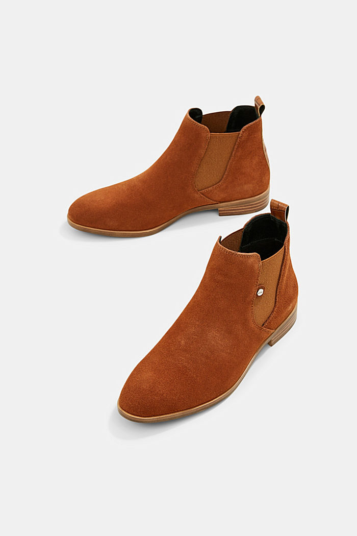 Chelsea-Boots aus Veloursleder, TOFFEE, detail image number 6