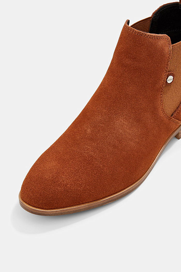Chelsea-Boots aus Veloursleder, TOFFEE, detail image number 4