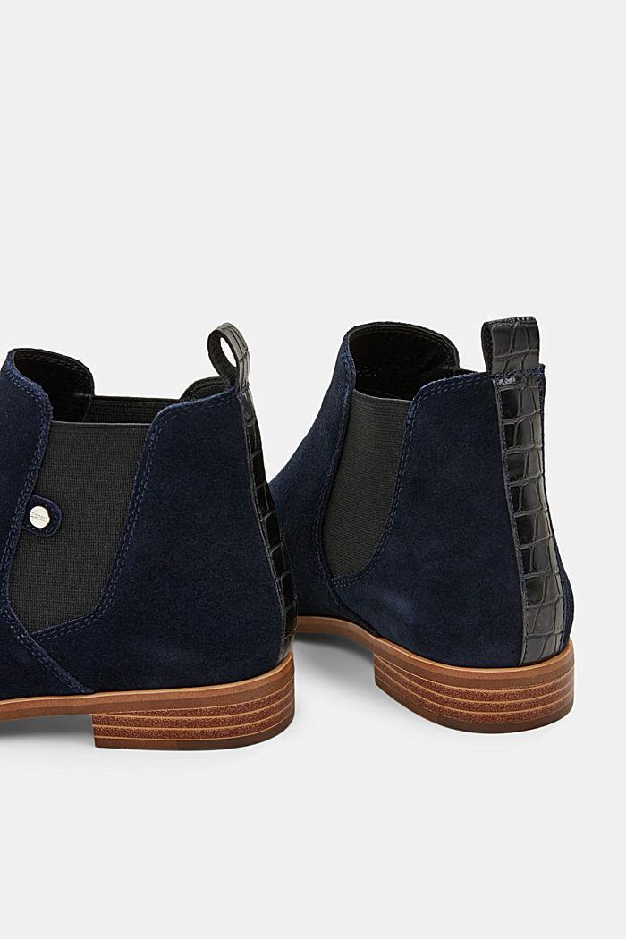 Chelsea boots van suède, NAVY, detail image number 5