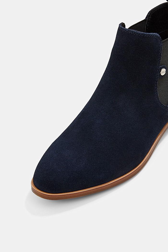 Chelsea boots van suède, NAVY, detail image number 4