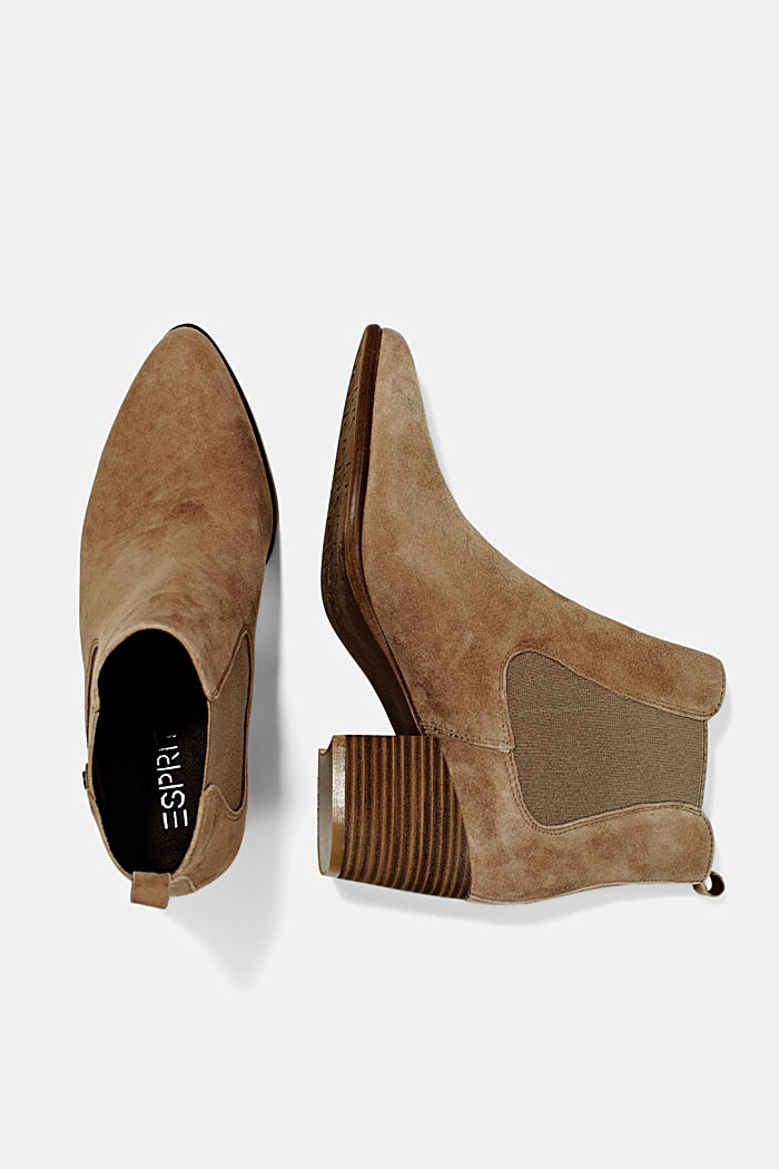 Suede ankle boots, CREAM BEIGE, detail image number 1