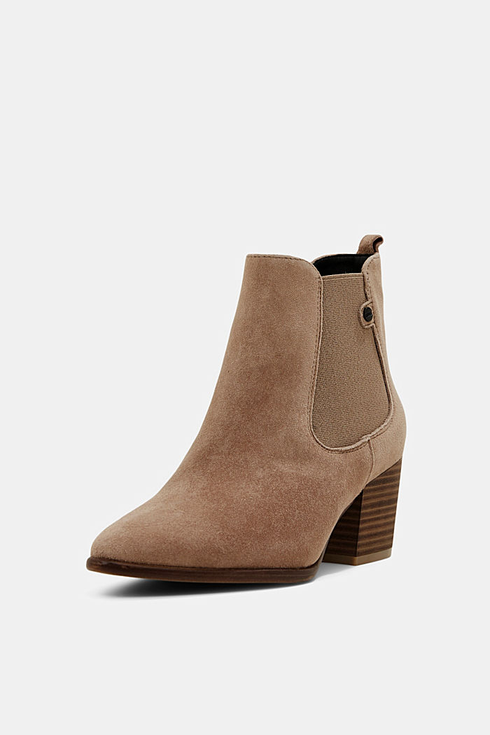 Suede ankle boots, CREAM BEIGE, detail image number 2