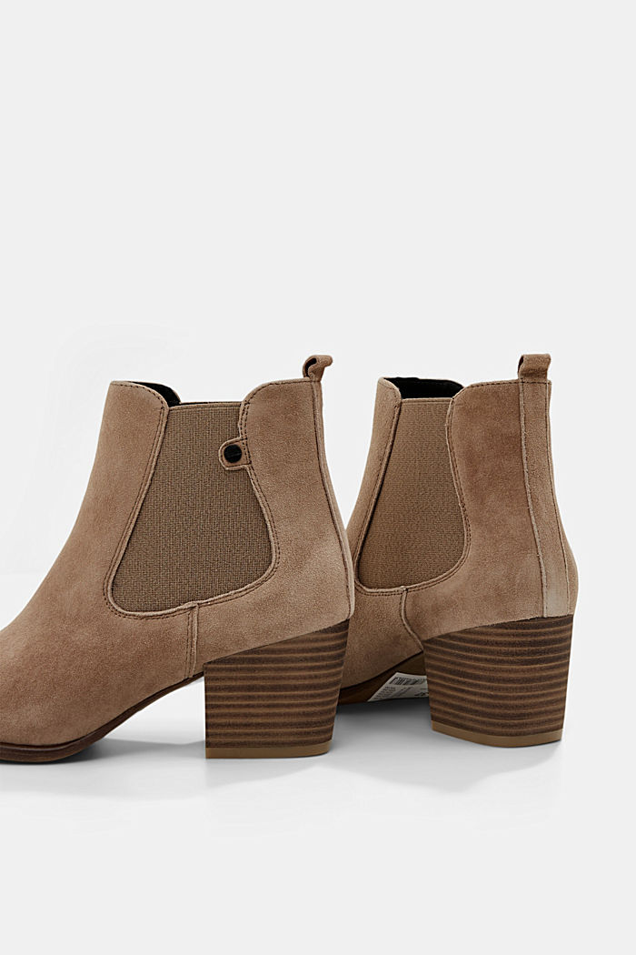 Suede ankle boots, CREAM BEIGE, detail image number 5