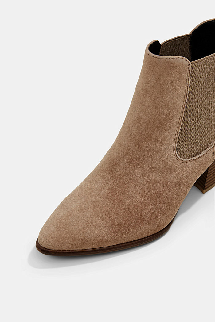 Suede ankle boots, CREAM BEIGE, detail image number 4