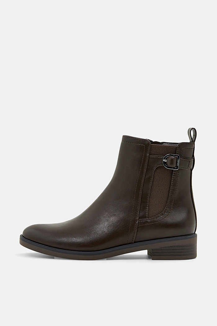 Faux leather Chelsea boots, DARK BROWN, detail image number 0