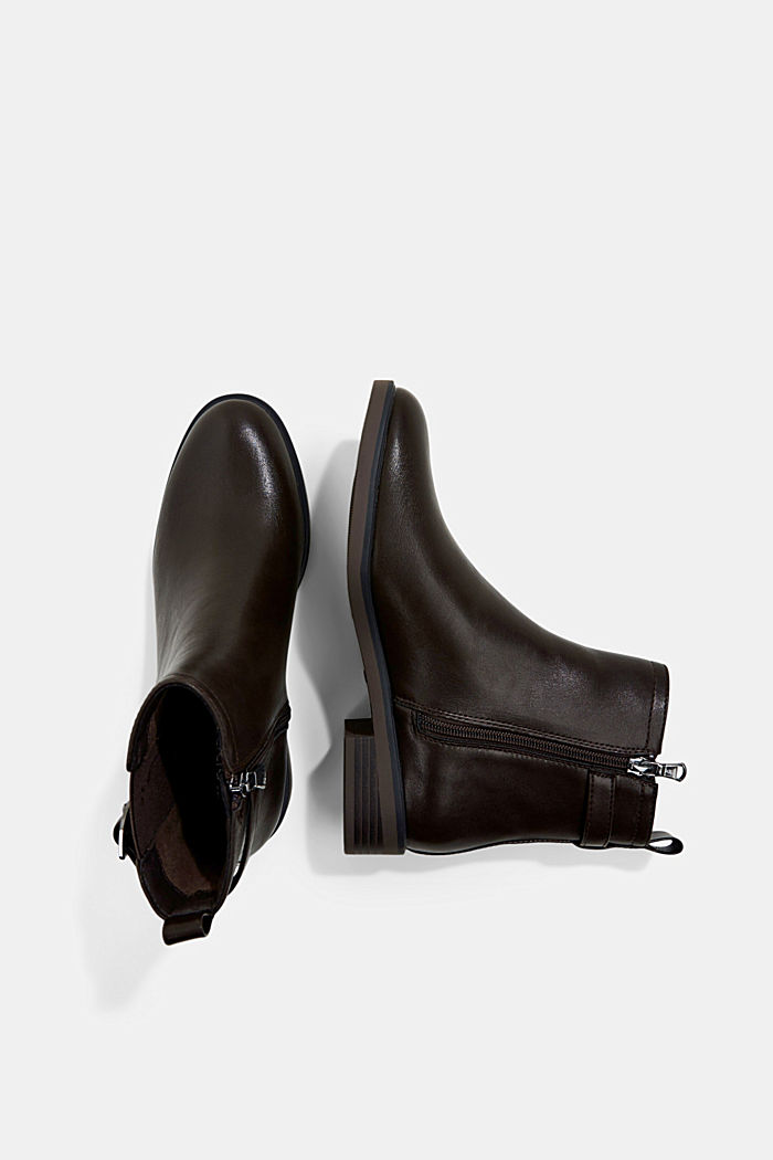 Faux leather Chelsea boots, DARK BROWN, detail image number 1