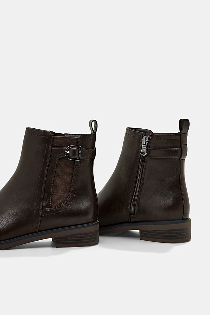 Faux leather Chelsea boots, DARK BROWN, detail image number 5