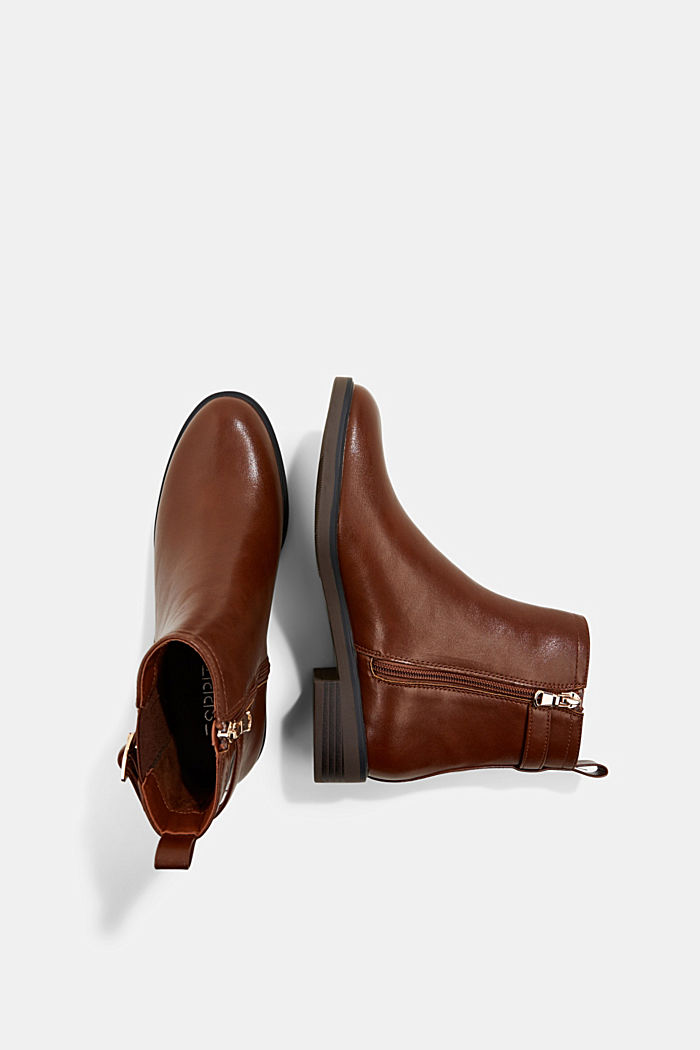 Faux leather Chelsea boots, TOFFEE, detail image number 1