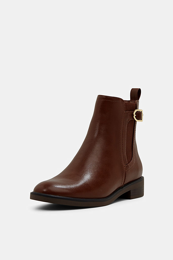 Faux leather Chelsea boots, TOFFEE, detail image number 2