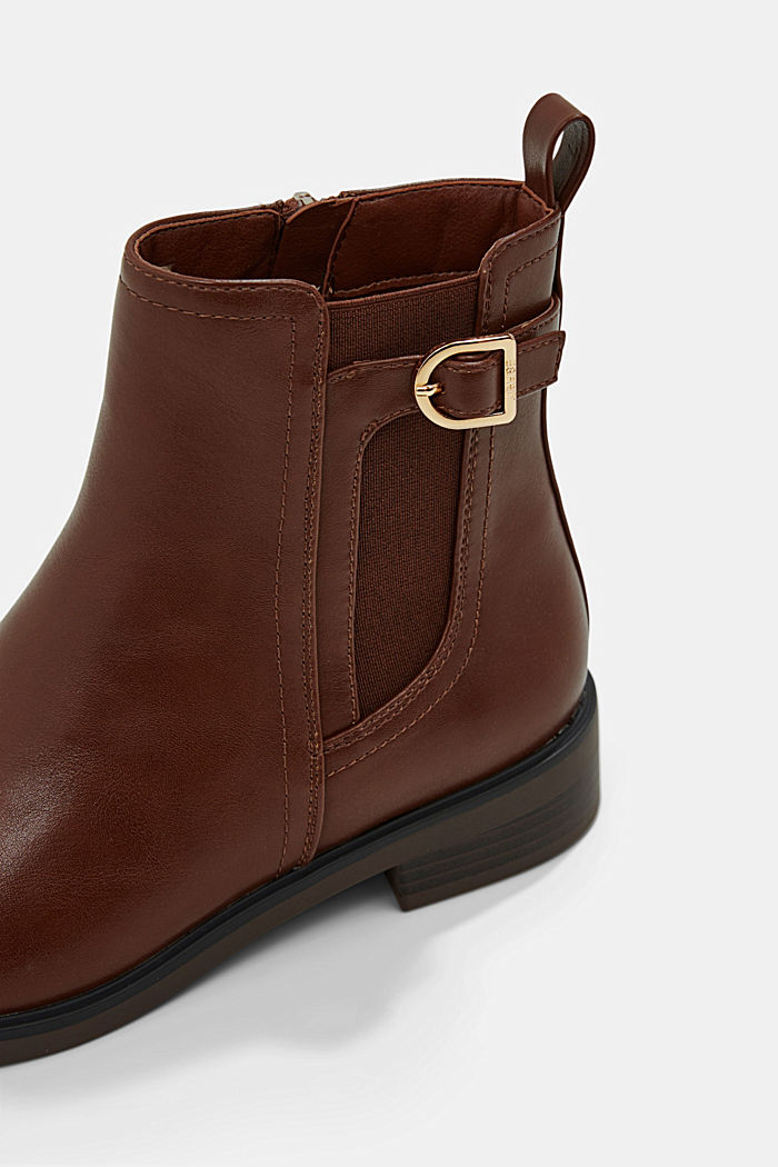 Faux leather Chelsea boots, TOFFEE, detail image number 5