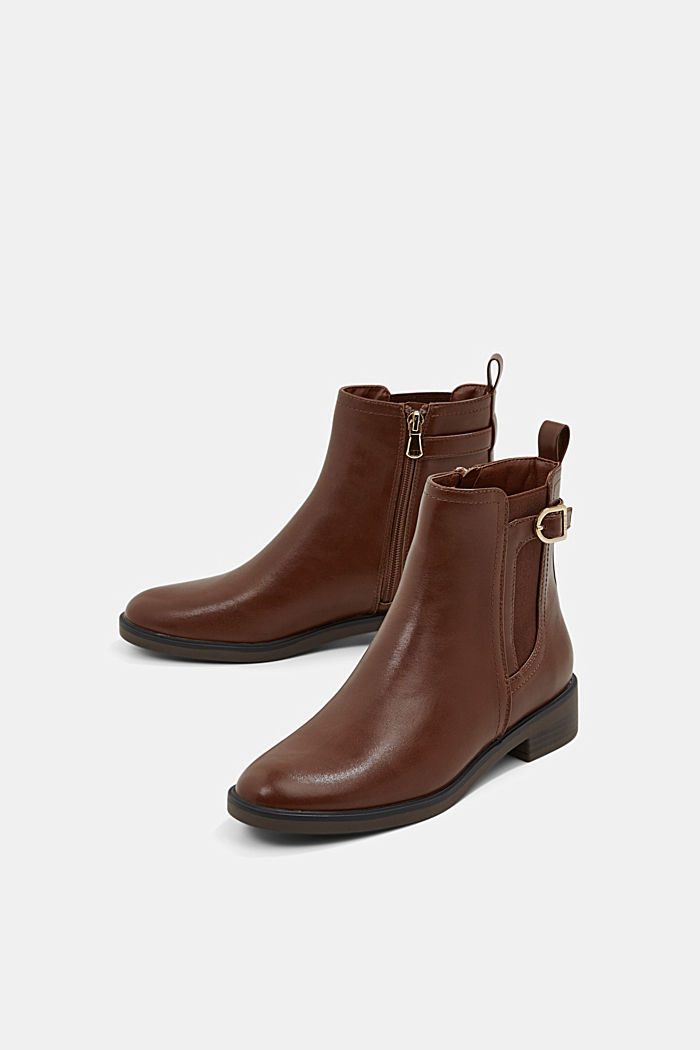 Faux leather Chelsea boots, TOFFEE, detail image number 6