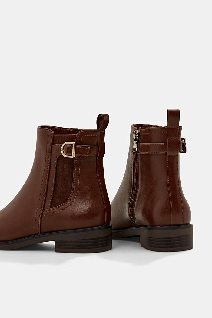 Faux leather Chelsea boots, TOFFEE, detail image number 4