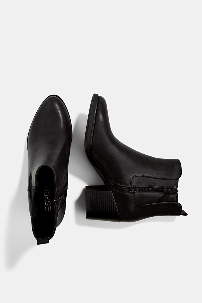 Vegan: les bottes en similicuir, BLACK, detail image number 1
