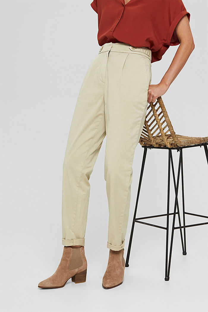 EarthColors® Chino mit Organic Cotton, DUSTY GREEN, detail image number 0