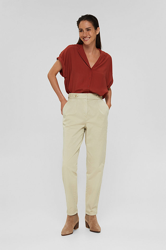 EarthColors® Chino mit Organic Cotton, DUSTY GREEN, detail image number 1