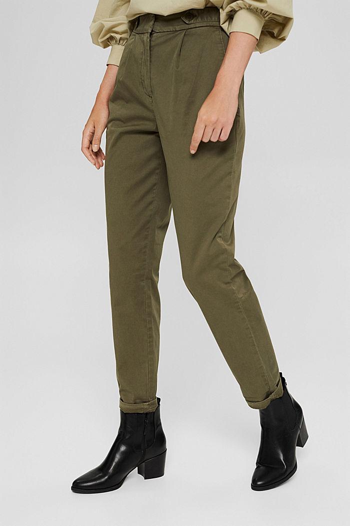 Pantalones chinos EarthColors® con algodón ecológico, DARK KHAKI, detail image number 0