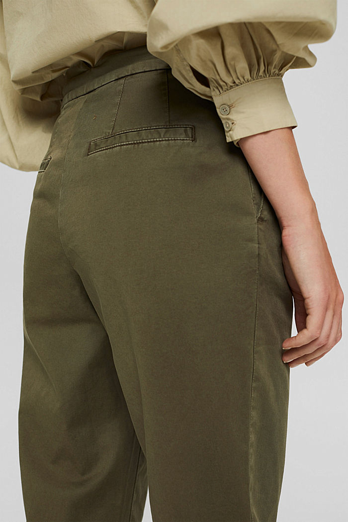 Pantalones chinos EarthColors® con algodón ecológico, DARK KHAKI, detail image number 5