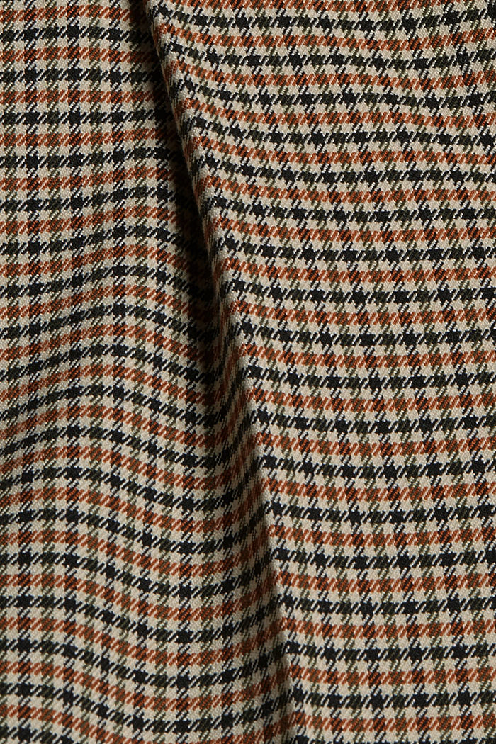 HOUNDSTOOTH mix + match trousers with a wide leg, KHAKI BEIGE, detail image number 4