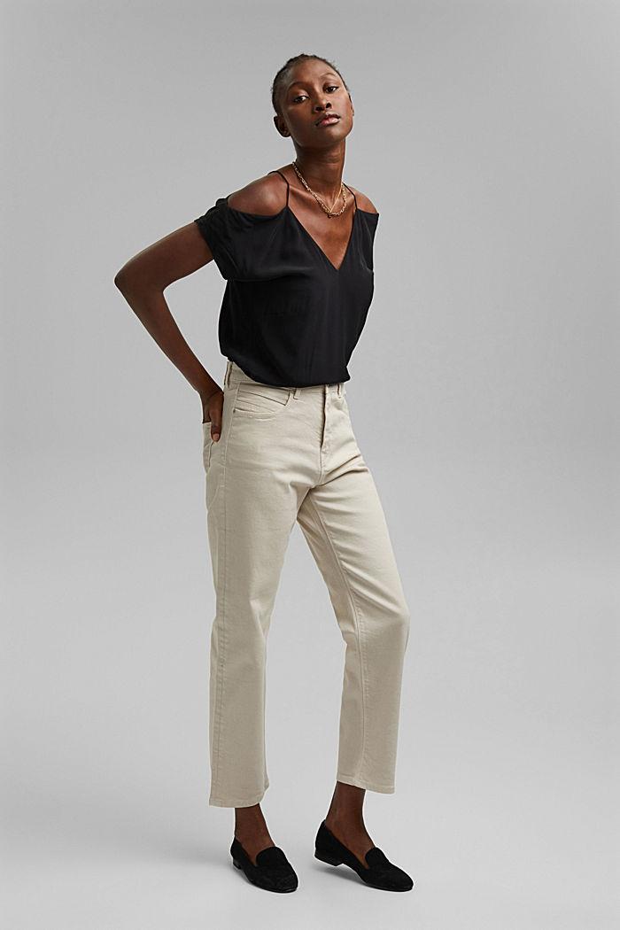 Pants denim regular, high rise straight leg