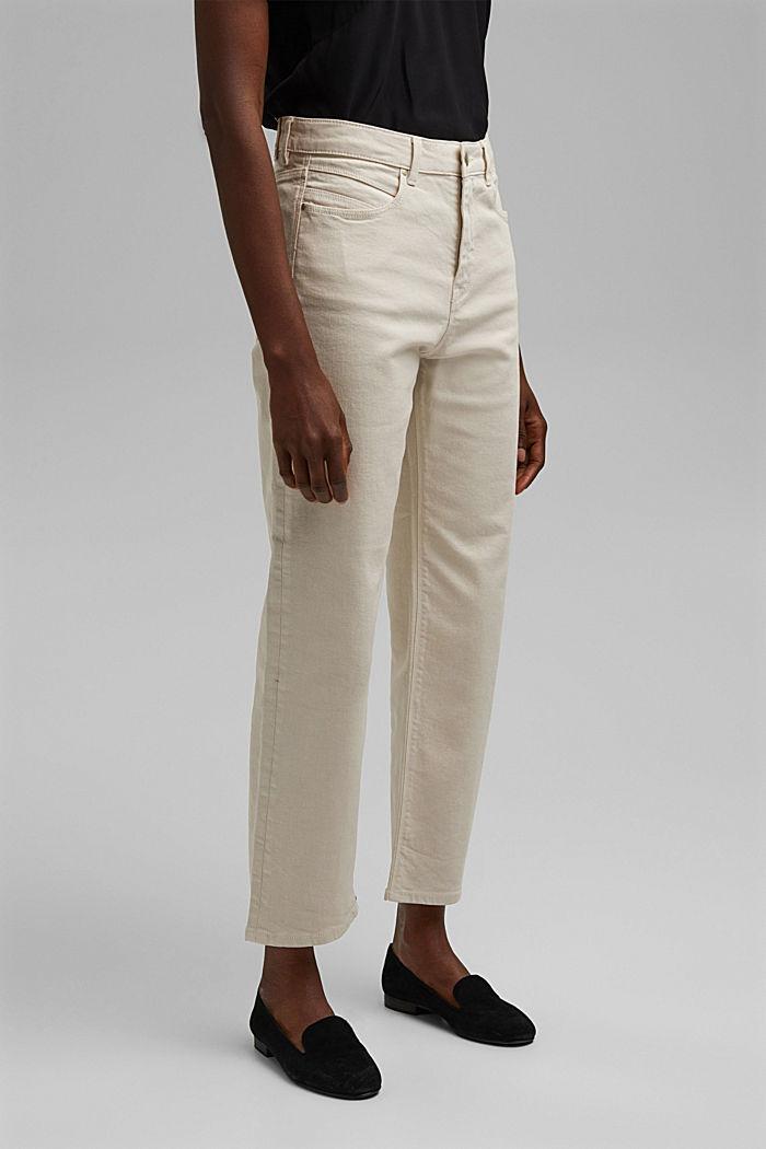 Jean droit à taille haute en coton biologique, ICE, detail image number 5