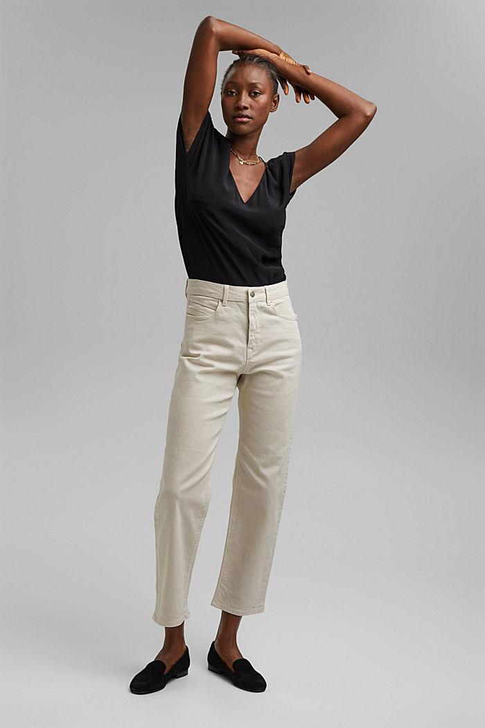 Rechte jeans met hoge taille van biologisch katoen