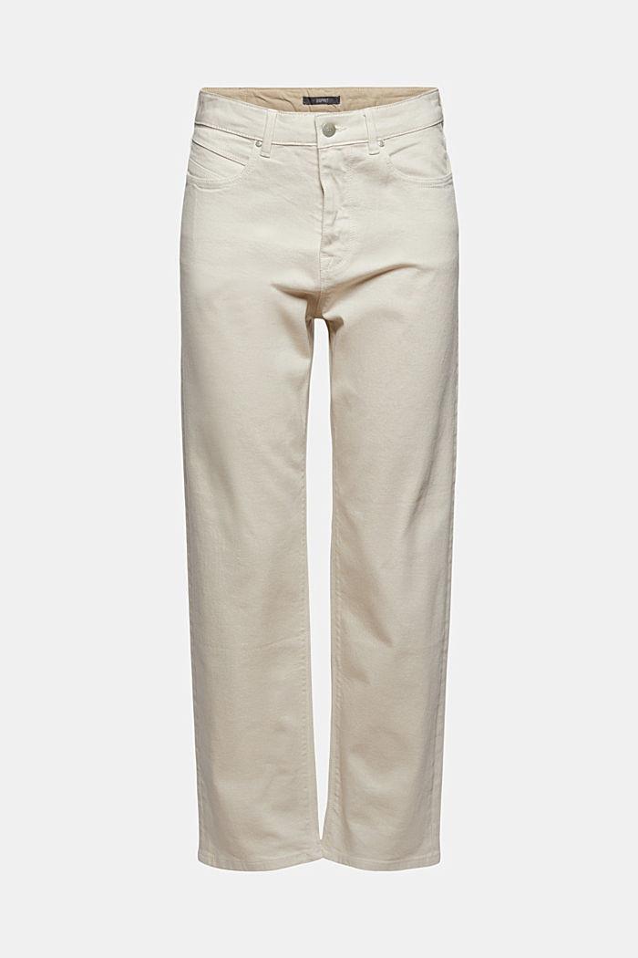 Jeans diritti a vita alta in cotone biologico